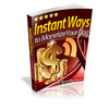 Thumbnail Instant Ways to Monetize Your Blog plr