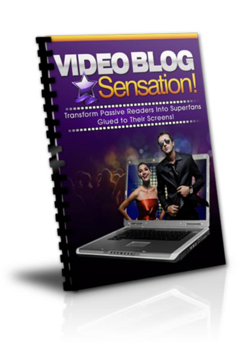 Product picture Video Blogging Sensation (PLR)