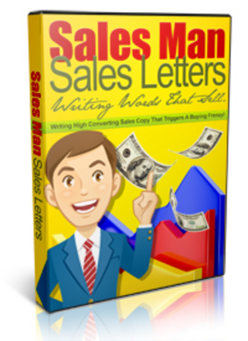 Product picture Sales Man Sales Letters - eBook and Video Series plr