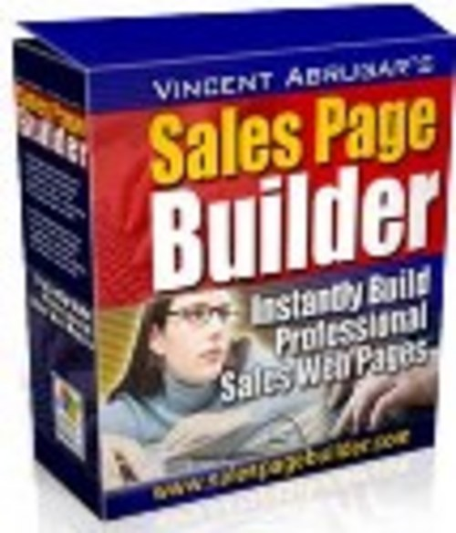 Product picture Sales Page Builder plr