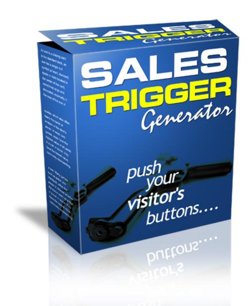 Product picture Sales Trigger Generator (PLR)