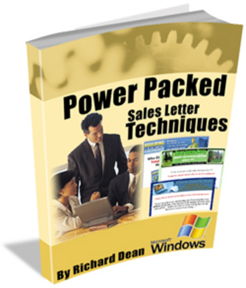 Product picture Power Packed Sales letter Techniques plr